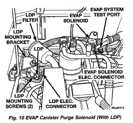 2001 jeep wrangler evap canister