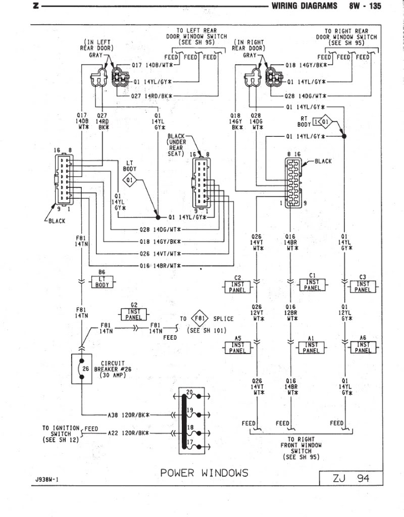 window switch wiring diagram or info jeep cherokee forum
