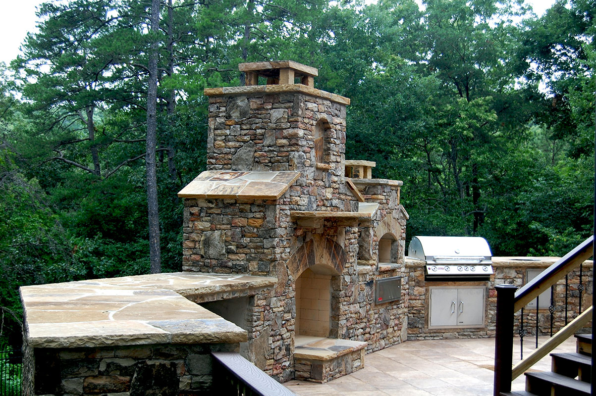 Atlanta Stone Fireplaces Outdoor Fire Pits Grills