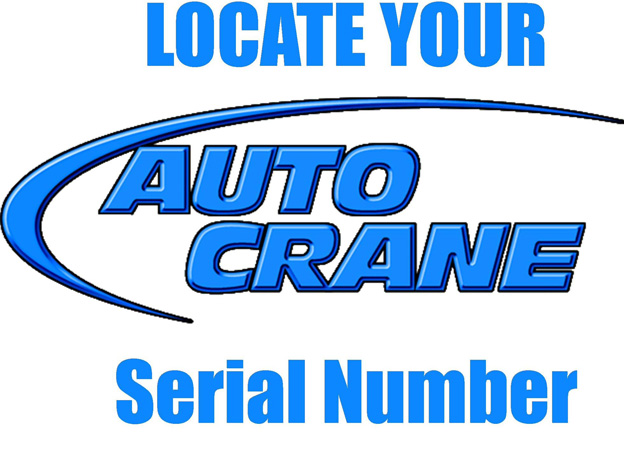 How to Find Auto Crane Serial Number Cherokee Truck Equipment, LLC