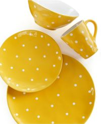 Maxwell Williams SPRINKLE Yellow Dinnerware