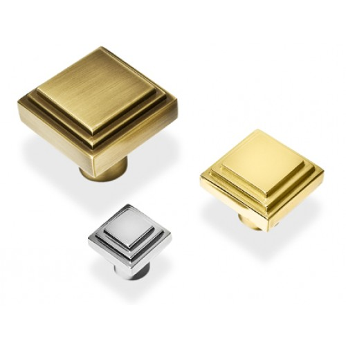 Henry Blake Art Deco Square Stepped Cupboard Knobs In