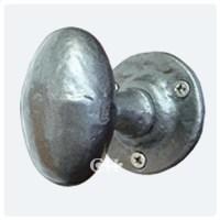 Kirkpatrick 1550 Oval Door Knobs In Black Argent or Pewter