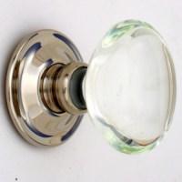 Clear Oval Glass Door Knobs Mortice Or Rim | Door handles ...