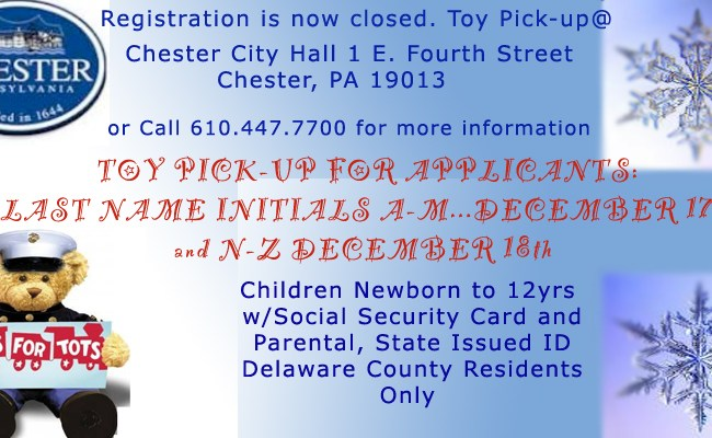 Toys For Tots Pickup A Through M City Of Chester