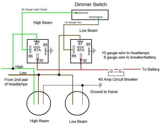 Headlight Relay Wiring - Data Wiring Diagram Update