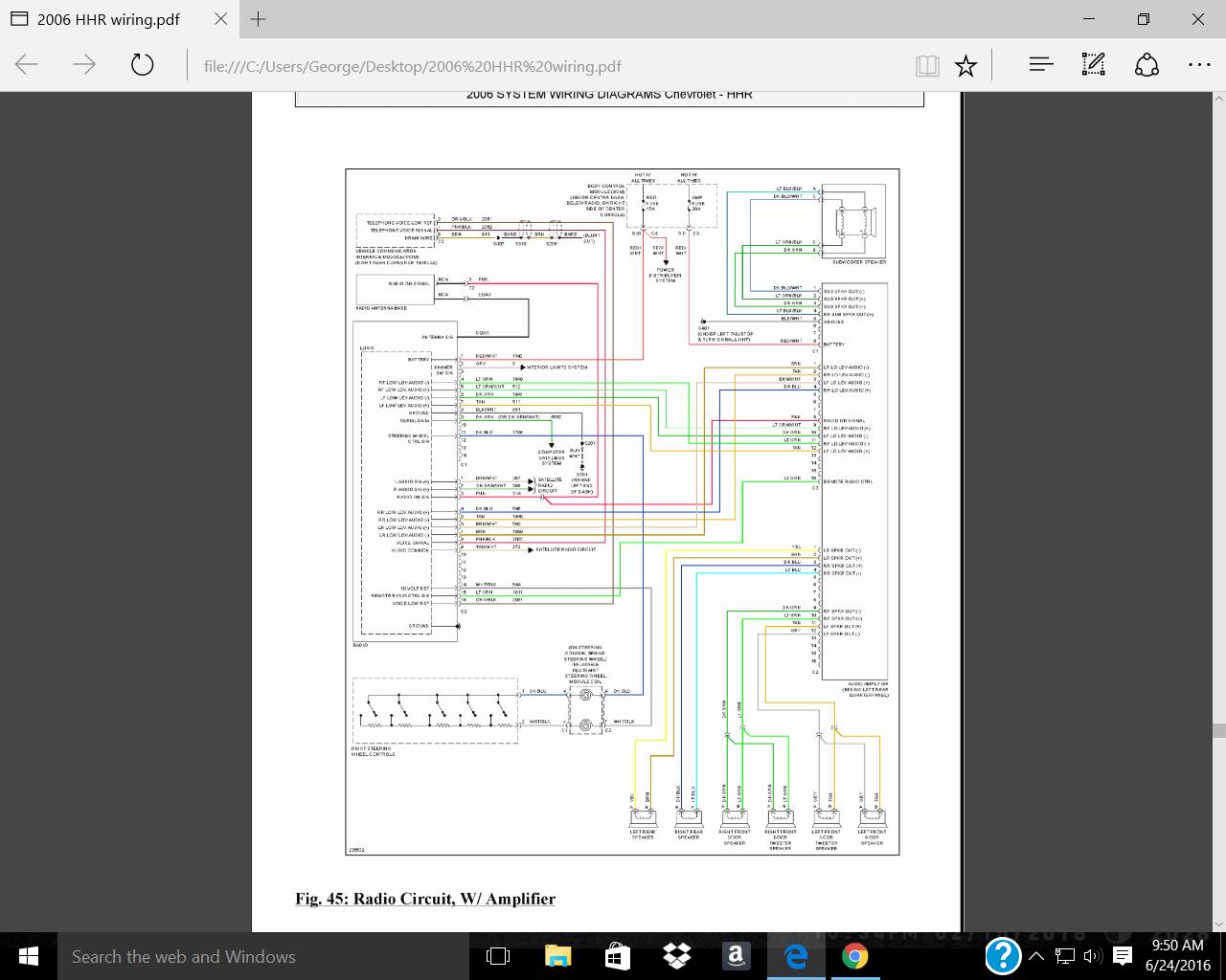 2006 hhr stereo wiring diagram