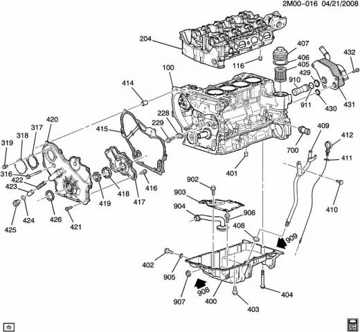 diagram of 2008 hhr ss engine
