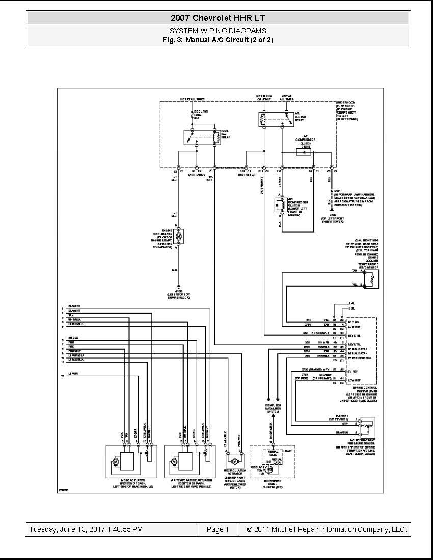 2008 chevy hhr headlight wiring diagram