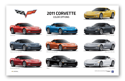 c6 corvette colors by year