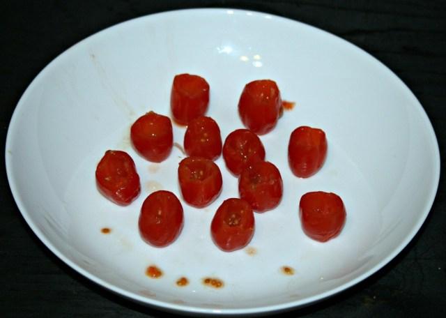 Basil Goat Cheese Stuffed Cherry Tomatoes