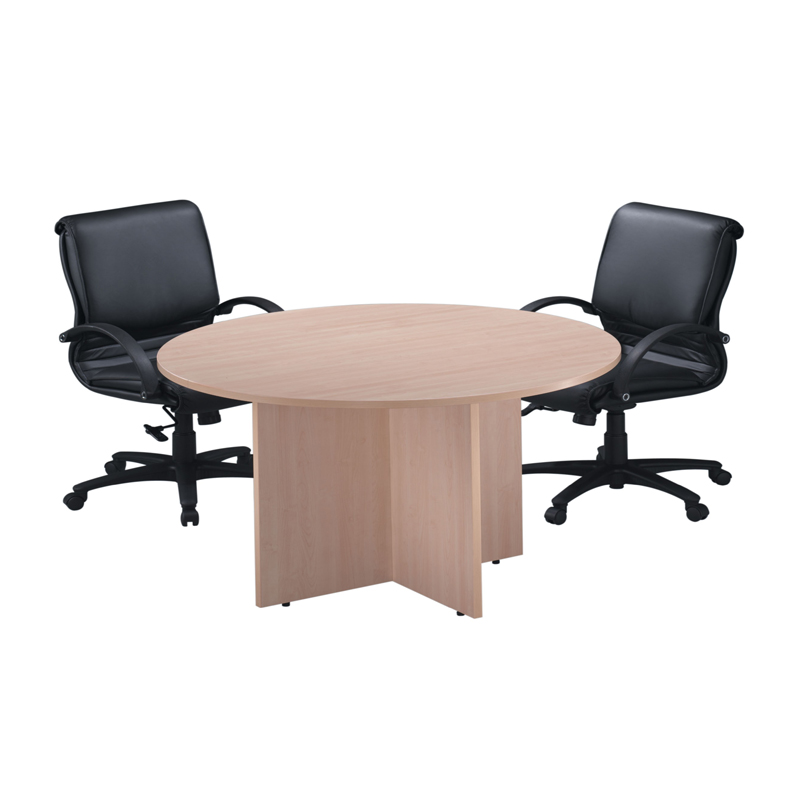 Classic Round Conference Tables with Cross Base - Cheyenne Office