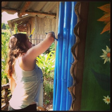 Painting the bamboo