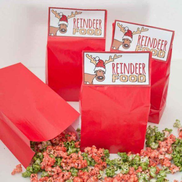 Reindeer Food\u201d Christmas popcorn treat bags Chica and Jo