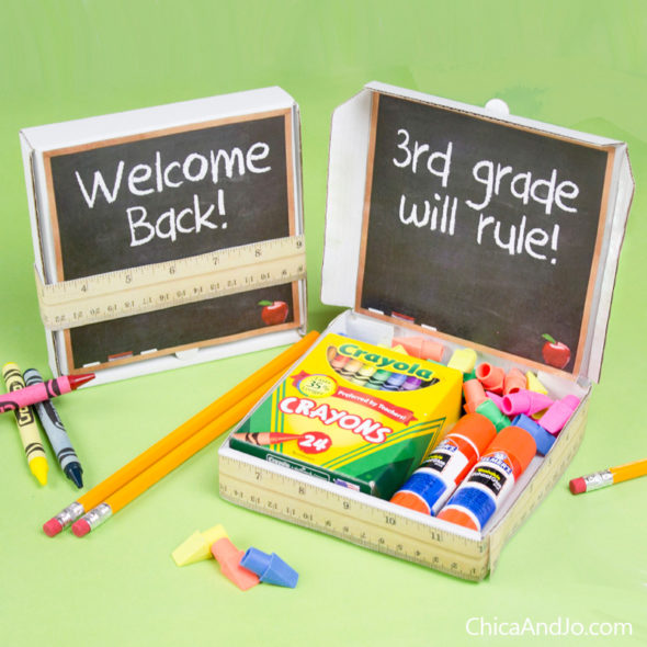 Back to school and teacher appreciation favor box printables Chica