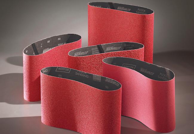 Norton Abrasives Red Heat Floor Sander Belts 8 Inch X 19 Inch