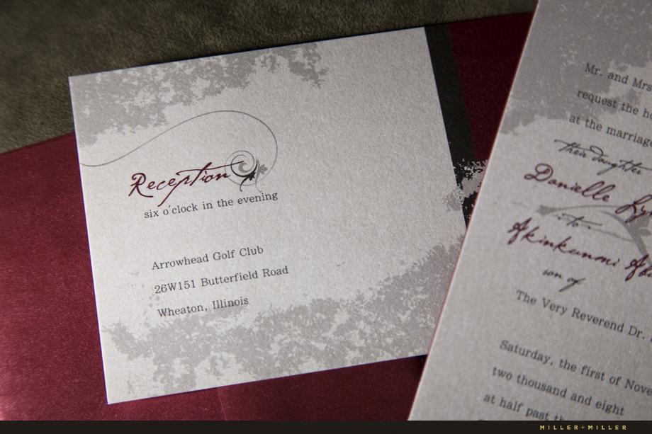 Danielle  Bola Custom Wedding Invitations, Arrowhead Golf Club
