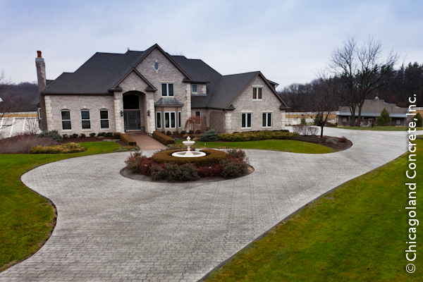 Love the circle driveway Spaces Home Exteriors Pinterest - concrete wall design example