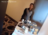 Nani, our Room Service Breakfast Server at Loews Chicago