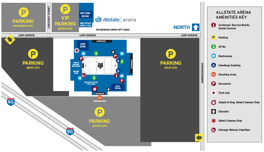 Seating Chart  Pricing Chicago Allstate Arena - Chicago Wolves