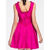 Short/Mini Taffeta Bridesmaid Dress - Fuchsia Plus Sizes ...