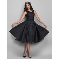 Chic Dresses Cocktail Party / Dress - Black Plus Sizes ...