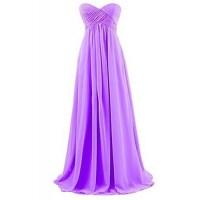 Floor-length Chiffon Bridesmaid Dress - Orange / Royal ...