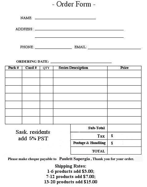 Avon Customer Order Form Template  Free Packing Slip Template for