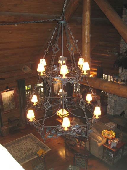 custom wrought iron chandeliers