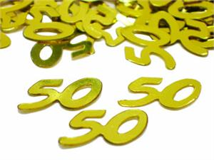 Gold Number 50 Confetti Metallic Gold 50th Confetti By