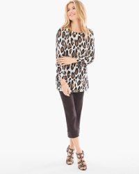 Cheetah-Print Tie Pullover - Chico's
