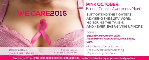 Pink October Lagos Walk: Free breast & cervical cancer screening @ Alade Market, Allen Avenue, Ikeja, Lagos