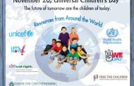 Universal Children's Day: 'Protect the rights of every child' – Anthony Lake,  UNICEF Executive Director