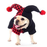 Dogloveit Halloween Clown Costumes Soft Dog Clothes For ...