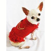 Michael Jackson Dog Costumes Red Cotton Handmade Crocheted
