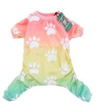 CuteBone Dog pajamas Dog Apparel Dog Jumpsuit Gradient color