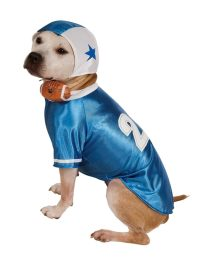 Blue Football Player Dog Costume - Chihuahua Kingdom