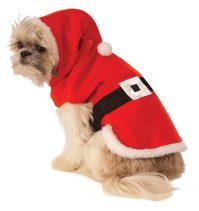 Santa Hoodie Dog Costume