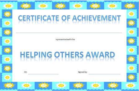 printable achievement certificates kids hard - Onwebioinnovate