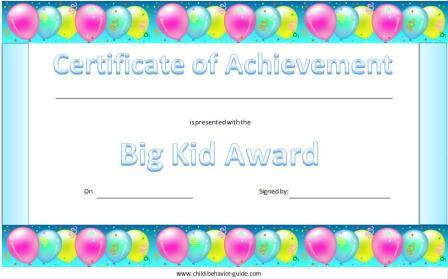 Certificates for Children, Free Printable Kid Awards
