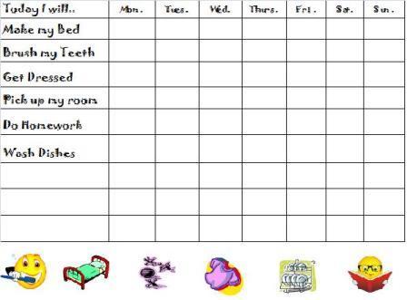 Free Chore Charts, Chores List, Behavior Chart - Free Chart