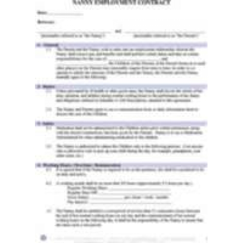 nanny agreement contract - mudeo - nanny agreement contract