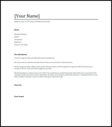 Cover Letter For Resume Template Free - Cover Letter  Resume