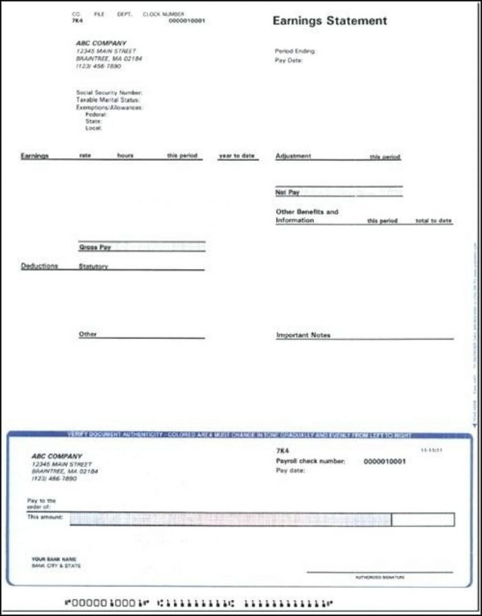 Blank Pay Stub Template Pdf - Template 1  Resume Examples #2A1WRWk8ze