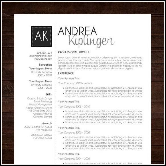 Contemporary Resume Templates Free - Resume  Resume Examples