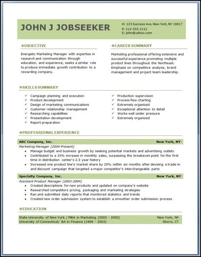 Download Free Colourful Resume Templates - Resume  Resume Examples