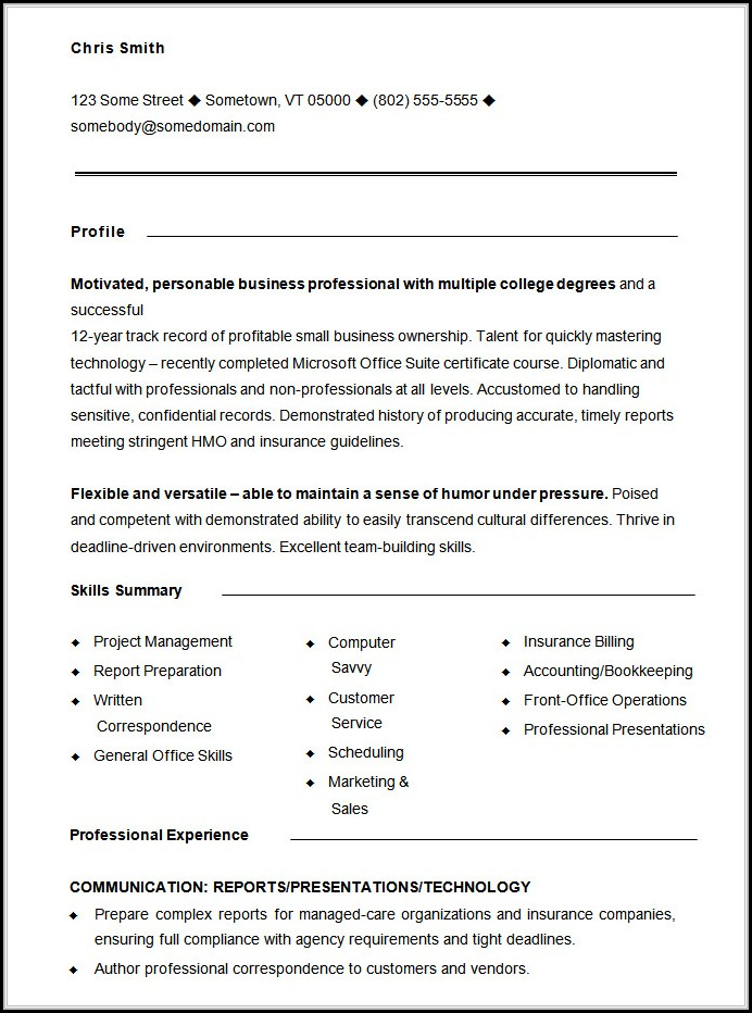 Free Functional Resume Template - Resume  Resume Examples #RXk87Gq8ZW