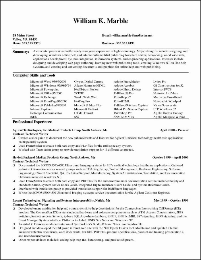 Medical Assistant Resume Template Word - Resume  Resume Examples