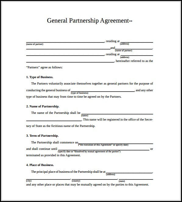 Free Partnership Agreement Form Pdf - Form  Resume Examples #jMy3a2a8wp