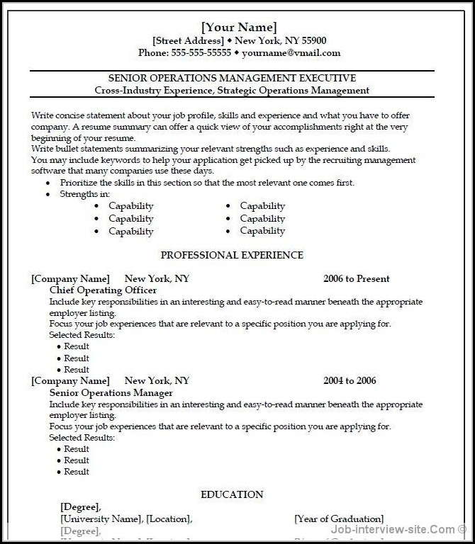 Free Professional Resume Templates Microsoft Word - Resume  Resume